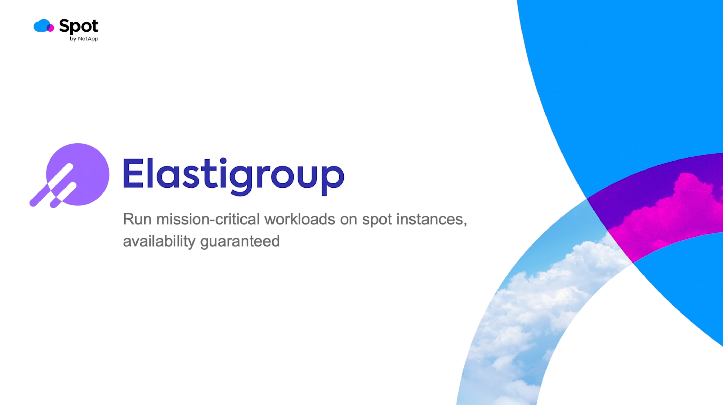 Elastigroup preview image for product demo video
