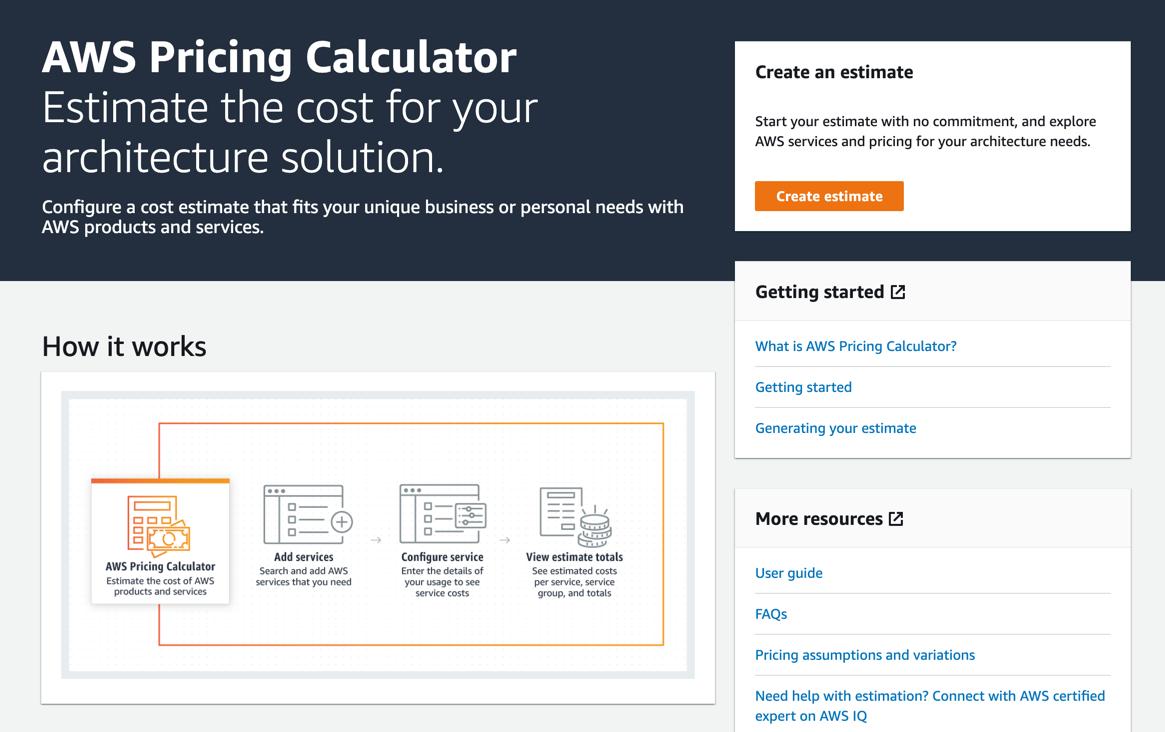 AWS Pricing Calculator